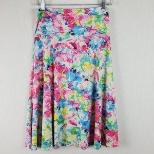 Lularoe Azure A-Line Skirt Size small Pull-On Pink